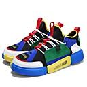abordables Zapatillas de Hombre-Hombre Suelos ligeros Ante Primavera & Otoño Confort Zapatillas de deporte Running / Paseo Blanco / Verde y Azul