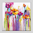 cheap Rolled Canvas Paintings-Print Stretched Canvas - Abstract Floral / Botanical Modern