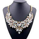 cheap Necklaces-Women's Crystal Bib Statement Necklace - European White, Red, Blue 49 cm Necklace For Party, Evening Party