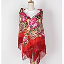 billige Gjennomsiktige gardiner-Dame Vintage Grunnleggende Firkantet - Dusk, Blomstret Polyester