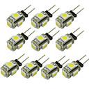 tanie Żarówki LED Bi-pin:-WeiXuan 6 szt. 1 W 80 lm G4 Żarówki LED bi-pin T 5 Koraliki LED SMD 5050 Ciepła biel / Zimna biel / Czerwony 12 V / RoHs