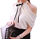 cheap Clutches & Evening Bags-Women's Daily / Work Blouse - Solid Colored Halter Neck / Summer