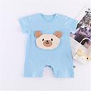 ieftine Set Îmbrăcăminte Bebeluși-Bebelus Unisex De Bază Mată Mânecă scurtă Poliester O - piesă Albastru piscină 90 / Copil