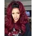 cheap Human Hair Wigs-Remy Human Hair Lace Front Wig Peruvian Hair Wavy Wig 130% Hair Density 100% Virgin Women's Long Human Hair Lace Wig beikashang