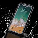 זול מגנים לטלפון & מגני מסך-מגן עבור Apple iPhone X / iPhone 8 Plus עמיד במים כיסוי מלא אחיד רך TPU ל iPhone X / iPhone 8 Plus / iPhone 8