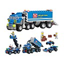 baratos Blocos de Montar-Blocos de Construir 163 pcs Camião Transporter Interação pai-filho Para Meninos Para Meninas Brinquedos Dom