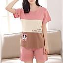 ieftine Brățări la Modă-Pentru femei În U Costume Pijamale Dungi / Bloc Culoare / Vară