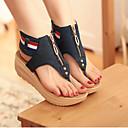 ieftine Sandale de Damă-Pentru femei Pantofi Denim Vară Confortabili / Noutăți Sandale Toc Platformă Cap-Toe Albastru / Albastru Deschis / Tocuri de toc