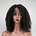 cheap Human Hair Wigs-Remy Human Hair Lace Front Wig Wig Brazilian Hair / Kinky Curly Curly 150% Density Women's Short Human Hair Lace Wig