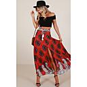זול צמידי גברים-פרחוני - חצאיות נדנדה סגנון רחוב / בוהו בגדי ריקוד נשים