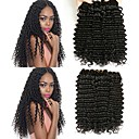tanie Dopinki naturalne-6 pakietów Włosy brazylijskie Falowana Włosy naturalne Pakiet One Solution Kolor naturalny Ludzkie włosy wyplata Rozbudowa / Gorąca wyprzedaż Ludzkich włosów rozszerzeniach Wszystko