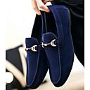 זול מגפיים לגברים-בגדי ריקוד גברים עור נובוק אביב נוחות נעליים ללא שרוכים שחור / אדום / כחול