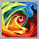 tanie Obrazy olejne-Hang-Malowane obraz olejny Ręcznie malowane - Kwiatowy / Roślinny Nowoczesny Naciągnięte płótka / Rozciągnięte płótno