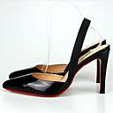 ieftine Sandale de Damă-Pentru femei Pantofi PU Vară / Toamnă Confortabili Sandale Toc Stilat Alb / Negru / Rosu