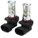 זול מנורות ערפל לרכב-SENCART 2pcs 9005 / 9006 אופנוע / מכונית נורות תאורה 50W SMD LED 3100lm 10 LED אורות ערפל For אוניברסלי כל השנים