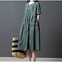 cheap Shoulder Bags-Women's Going out / Weekend Cotton Loose Shift Dress - Solid Colored High Waist / Cotton / High Waist / Going out / Loose