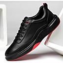 tanie Adidasy męskie-Męskie Komfortowe buty Skórzany Wiosna Tenisówki Czarny