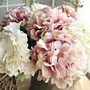 abordables Flores Artificiales-Flores Artificiales 1 Rama Europeo / Ramos de Flores para Boda Hortensias Flor de Mesa