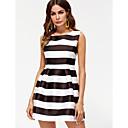 preiswerte Kleider für Mädchen-Damen Hülle Kleid Mini Schwarz & Weiß