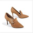 ieftine Tocuri de Damă-Pentru femei Pantofi Piele Primavara vara Noutăți Tocuri Toc Stilat Negru / Verde / Camel / Party & Seară / Party & Seară