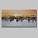 ieftine Picturi în Ulei-Hang-pictate pictură în ulei Pictat manual - Abstract Peisaj Modern pânză