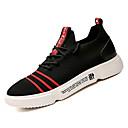 זול סניקרס לגברים-בגדי ריקוד גברים בד / PU קיץ נוחות נעלי ספורט קולור בלוק שחור / אדום / שחור אדום