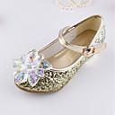 זול נעלי ילדות-בנות נעליים נצנצים קיץ & אביב נעליים לילדת הפרחים סנדלים קריסטל / נצנצים / סקוטש ל ילדים כסף / סגול / כחול