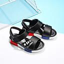 זול כלי אוכל-בנים נעליים דמוי עור קיץ נוחות סנדלים סקוטש ל לבן / שחור