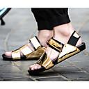tanie Oksfordki męskie-Męskie Komfortowe buty Skóra patentowa Lato Sandały Złoty / Biały / Czarny
