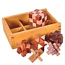 cheap Wooden Puzzles-Luban Lock Other Focus Toy Wooden / Bamboo 1pcs Adults / Child's All Gift