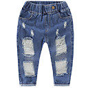 ieftine Pantaloni Fete & Leginși-Copii Unisex Mată Blugi