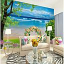 رخيصةأون معلقات الجدران-ورق الجدران / جدارية كنفا تغليف الجدران - لاصق المطلوبة الأشجار / الأوراق / تصميم / 3D
