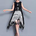זול פיאות סינטטיות ללא כיסוי-א-סימטרי דפוס, פרחוני - שמלה סווינג בגדי ריקוד נשים