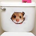 levne Samolepky na zeď-Samolepky na ledničku Samolepky na toaletu - Zvířecí nálepky na zeď Zvířata 3D Obývací pokoj Ložnice Koupelna Kuchyň Jídelna studovna či