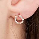 olcso Divat fülbevalók-Női Beszúrós fülbevalók - 18 karátos futtatott arany, S925 ezüst Kecses, Nyilatkozat, Egyszerű Vörös arany Kompatibilitás Party / estély Estély