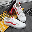 cheap Women's Sneakers-Women's Shoes Canvas Spring Comfort Sneakers Flat Heel White / Black / Green