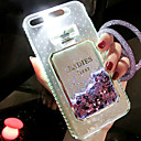 cheap Cell Phone Cases & Screen Protectors-Case For Apple iPhone 5 Case / iPhone 6s Flowing Liquid / LED Flash Lighting Back Cover Glitter Shine Hard TPU for iPhone 8 Plus / iPhone 8 / iPhone 7 Plus
