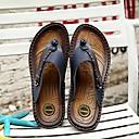 tanie Kozaki męskie-Męskie Komfortowe buty Skórzany Lato Klapki i japonki Pomarańczowy / Ciemnoniebieski / Dark Brown