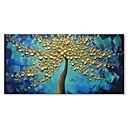 levne Abstraktní malby-Hang-malované olejomalba Ručně malované - Abstraktní Květinový / Botanický motiv Současný styl Moderní Obsahovat vnitřní rám / Reprodukce plátna