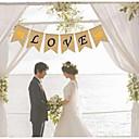 זול אספקה למסיבות-מסיבה פשתן / כותנה מעורבת קישוטי חתונה נושא פרפר / רומנטיקה / לב כל העונות