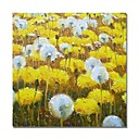 cheap Oil Paintings-STYLEDECOR Modern Hand Painted Abstract Yellow and White Flower Field Oil Painting on Canvas for Wall Art