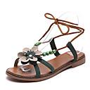 ieftine Oxfords de Damă-Pentru femei Pantofi PU Vară Confortabili Sandale Plimbare Toc Drept Vârf deschis Negru / Bej / Verde