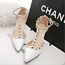 cheap Women's Heels-Women's Patent Leather Summer Novelty Heels Stiletto Heel Gray / Red / Pink / Party & Evening / Party & Evening