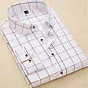 billige Oxfordsko til herrer-Skjorte Herre - Stripet / Geometrisk Forretning / Grunnleggende Arbeid / Kortermet / Langermet