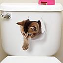 billige Veggklistremerker-Køleskabs klistermærker Toilet klistermærker - Animal Wall Stickers Dyr 3D Stue Soverom Baderom Kjøkken Spisestue Leserom / Kontor