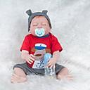 ieftine Păpuși-NPKCOLLECTION Păpuși Renăscute Bebe Fetiță 22 inch Silicon - Nou nascut natural Drăguț Ecologic Cadou Siguranță Copii Lui Kid Unisex / Fete Jucarii Cadou / Non Toxic