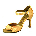 baratos Colares para Homens-Mulheres Sapatos de Dança Latina / Sapatos de Salsa Cetim Sandália / Salto Presilha / Cadarço de Borracha Salto Personalizado Personalizável Sapatos de Dança Bronze / Amêndoa / Nú / Espetáculo