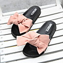 cheap Slippers-Women's Slippers Slide Slippers Ordinary / Geometric Pattern Nubuck leather Bowknot Shoes
