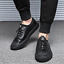 זול נעלי בד ומוקסינים לגברים-בגדי ריקוד גברים עור אביב / סתיו נוחות נעלי ספורט שחור