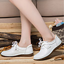 cheap Women's Oxfords-Women's Shoes Leather Fall / Spring & Summer Comfort Oxfords Flat Heel White / Black